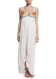 Mara Hoffman Prismatic Tie-Front Maxi Dress