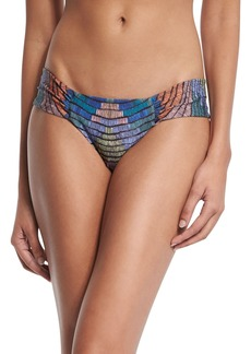 Mara Hoffman Radial Ruched-Side Swim Bottom