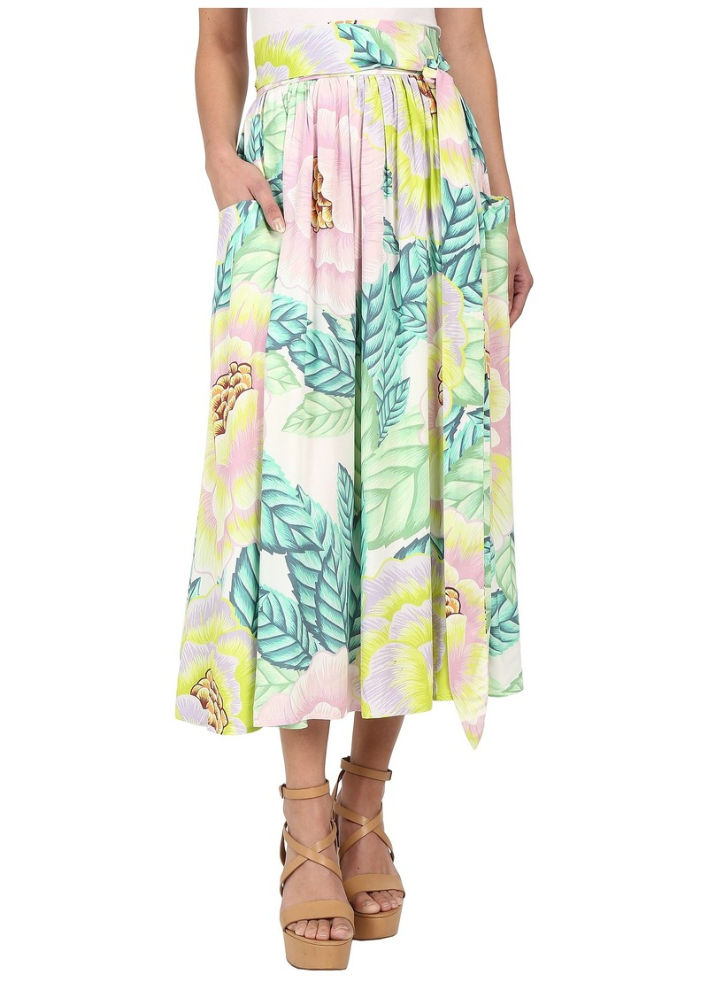 Mara Hoffman Rayon Midi Skirt with Pockets