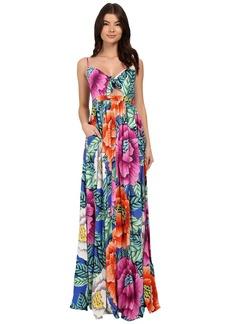 Mara Hoffman Rayon Tie Front Maxi Dress
