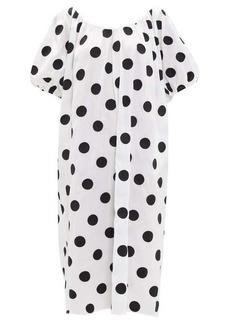 Mara Hoffman Romina puff-sleeve polka-dot cotton dress