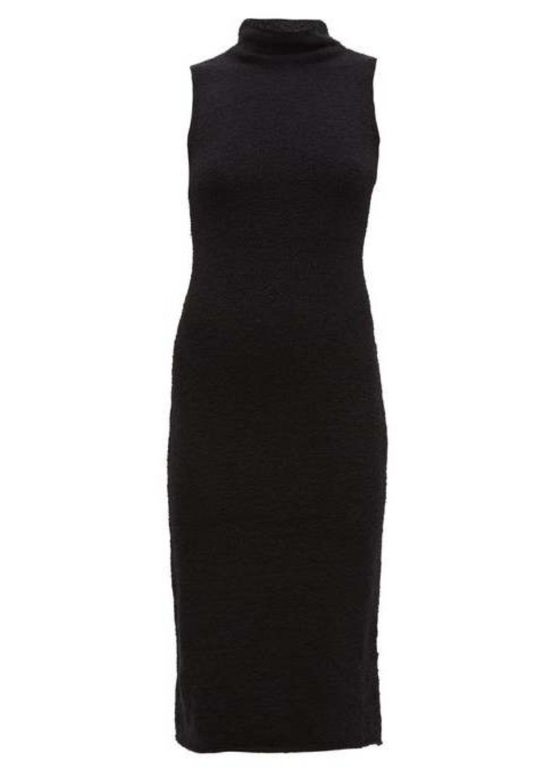 Mara Hoffman Rory high-neck cotton-blend bouclé midi dress