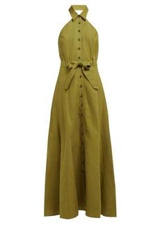 Mara Hoffman Rosemary halterneck canvas dress