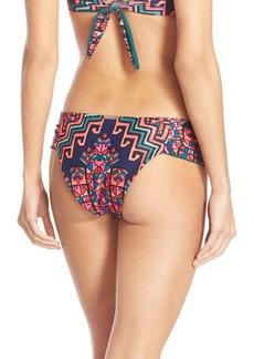 Mara Hoffman Ruched Cheeky Bikini Bottoms