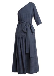 Mara Hoffman Sam one-shoulder striped cotton dress