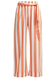 Mara Hoffman Sasha wide-leg striped cotton trousers