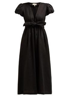 Mara Hoffman Savannah puff-sleeve hemp midi dress