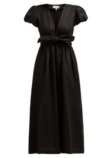 Mara Hoffman Savannah puff-sleeve hemp midi dress