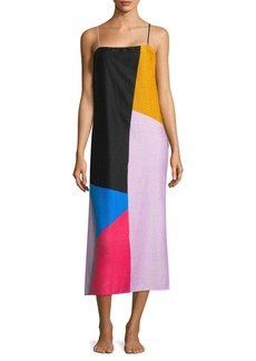 Mara Hoffman Sena Colorblock Cotton Midi Dress