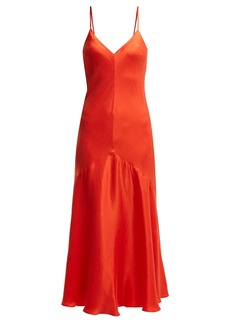 Mara Hoffman Seraphina bias-cut satin-twill dress
