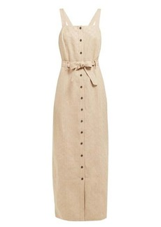 Mara Hoffman Serena checked linen dress