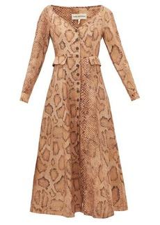 Mara Hoffman Silvana snake-print Tencel-blend shirt dress