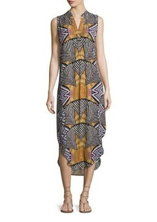 Mara Hoffman Sleeveless Printed Long Shirtdress