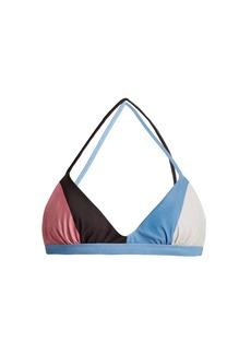 Mara Hoffman Soleil Block-print triangle bikini top