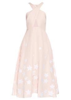 Mara Hoffman Star-embroidered cross-front midi dress
