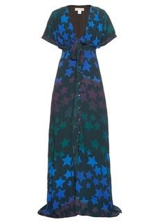 Mara Hoffman Star-print crepe maxi dress