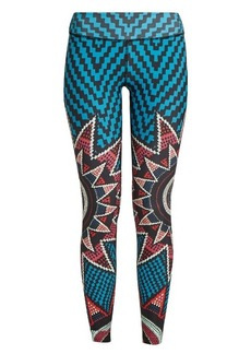 Mara Hoffman Starbasket-print performance leggings