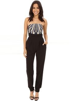 Mara Hoffman Strapless Embroidered Jumpsuit
