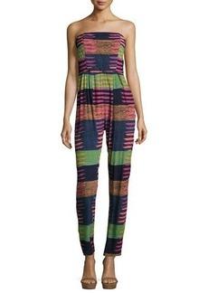 Mara Hoffman Stripe-Print Strapless Jumpsuit