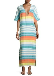 Mara Hoffman Striped Organic Cotton Kimono Coverup Dress