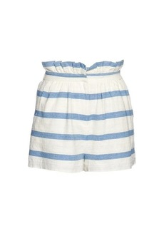 Mara Hoffman Striped textured-cotton shorts