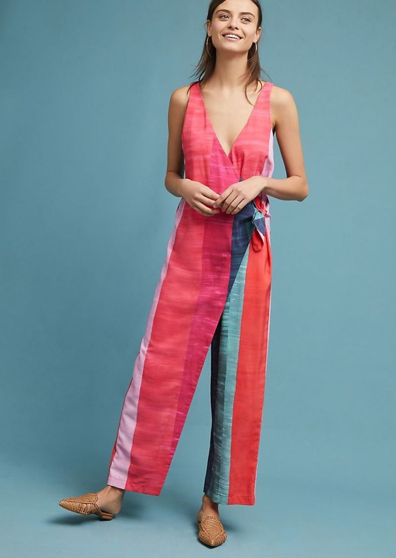 414a27ad806 On Sale today! Mara Hoffman Mara Hoffman Striped Wrap Jumpsuit