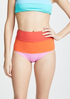 Mara Hoffman Sunrise Colorblock Lydia High Waisted Bottoms