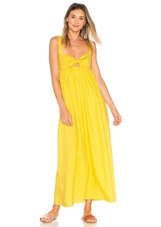 Mara Hoffman Tie Front Maxi Dress in Yellow. - size 6 (also in 0,2)
