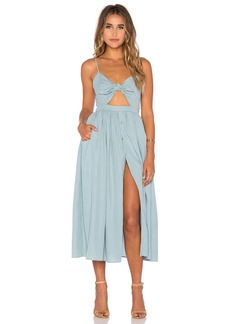 Mara Hoffman Tie Front Midi Dress