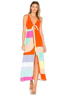 Mara Hoffman Tie Front Midi Dress in Orange. - size 0 (also in 4,6)