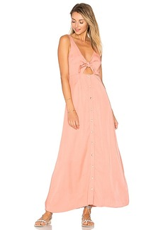 Mara Hoffman Tie Front Midi Dress in Peach. - size 6 (also in 0,2)