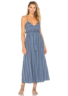 Mara Hoffman Tie Waist Midi Dress in Blue. - size 0 (also in 2,4,6)