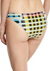Mara Hoffman Tile-Print Hipster Swim Bottom