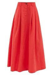 Mara Hoffman Tulay pleated Tencel-blend midi skirt