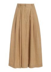 Mara Hoffman Tulay Woven-Hemp Maxi Skirt