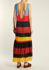 Mara Hoffman Valentina scoop-neck striped dress