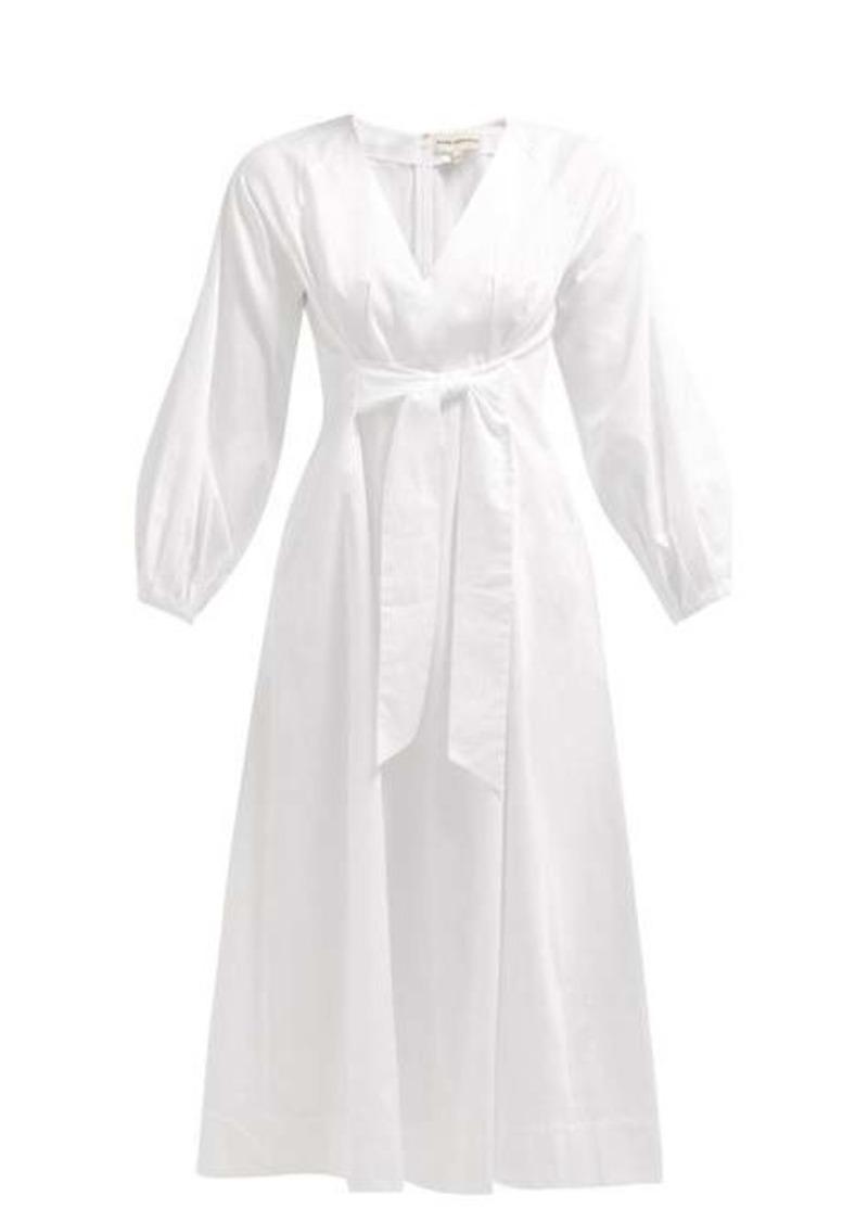Mara Hoffman Vivica tie-front cotton midi dress