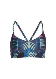 Mara Hoffman Voyager-print cross-back performance bra