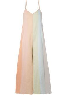 Mara Hoffman Woman Carly Color-block Organic Cotton-voile Jumpsuit Multicolor