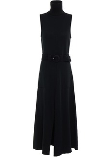 Mara Hoffman Woman Elle Belted Organic Cotton Turtleneck Midi Dress Black