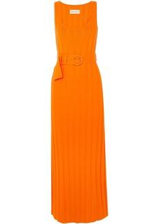 Mara Hoffman Woman Harlow Belted Ribbed Organic Cotton Maxi Dress Orange