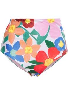 Mara Hoffman Woman Lydia Floral-print High-rise Bikini Briefs Multicolor