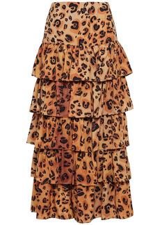 Mara Hoffman Woman Marzia Tiered Leopard-print Tencel-broadcloth Maxi Skirt Animal Print