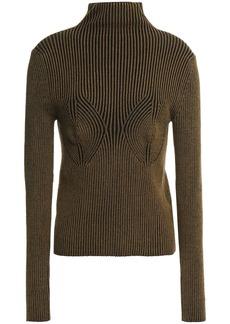 Mara Hoffman Woman Mida Ribbed Stretch-modal Turtleneck Sweater Army Green