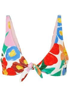 Mara Hoffman Woman Rio Knotted Floral-print Bikini Top Multicolor