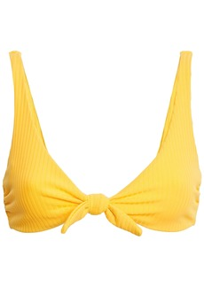 Mara Hoffman Woman Rio Knotted Ribbed Bikini Top Yellow