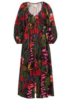 Mara Hoffman Woman Simone Printed Organic Cotton And Tencel-blend Midi Dress Black