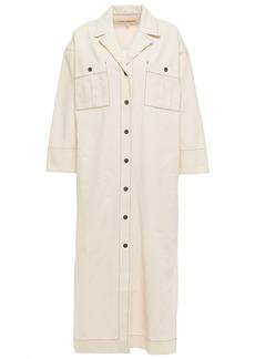 Mara Hoffman Woman Sylvie Cotton-canvas Midi Shirt Dress Neutral