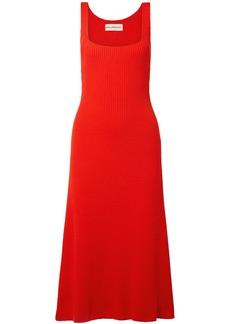 Mara Hoffman Woman Vita Ribbed Cotton Dress Red