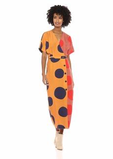 Mara Hoffman Women's Amrita V Neck Button Up Dress